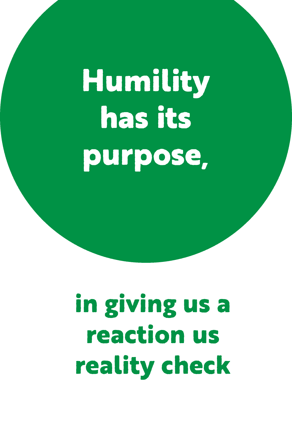 Image on how humility and adversity has purpose