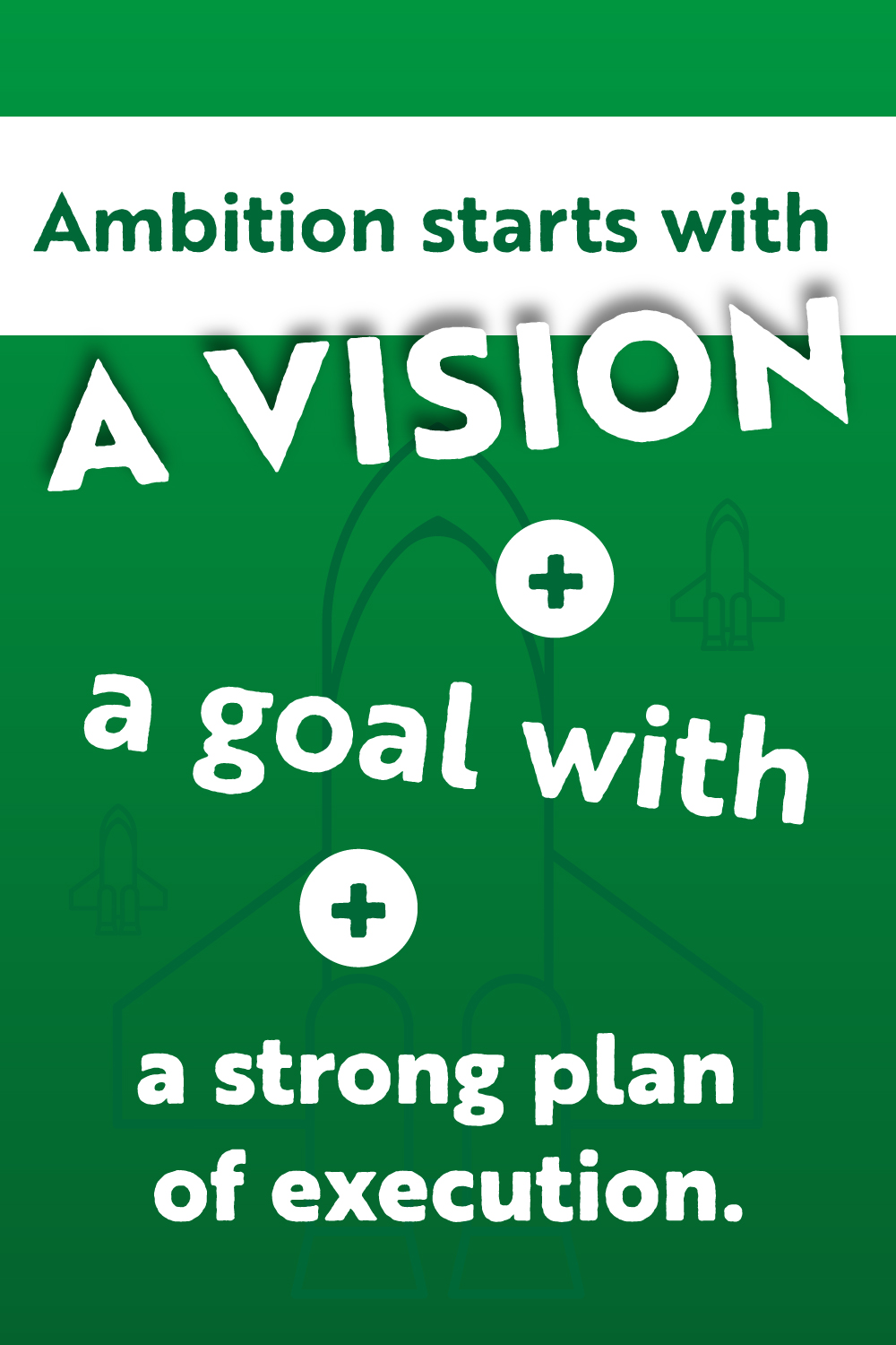 Infographic-on-what-ambition-start-with-green-background-and-white-text.